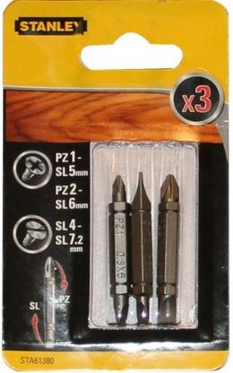 Біти двохсторонні Stanley PZ1-SL5,PZ2-SL6,SL4-SL7.2, 48ММ