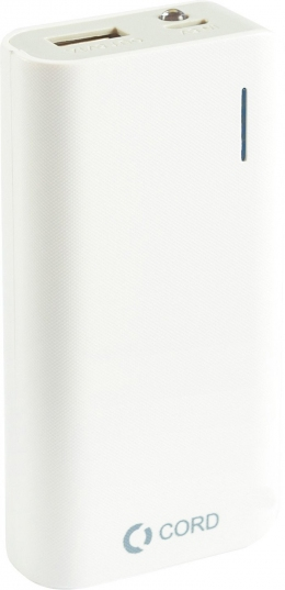 Внешний аккумулятор CORD 5200mA D-002 white-grey