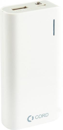 Зовнішній акумулятор CORD 5200mA D-002 white-grey