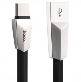 USB кабель Hoco X4 Zinc Alloy MicroUSB-USB 1.2m Black