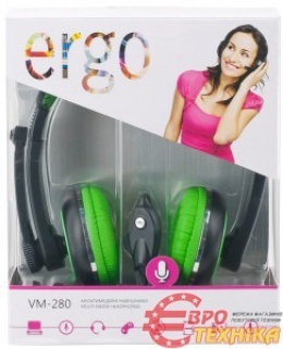 Навушники Ergo VM-280 Green