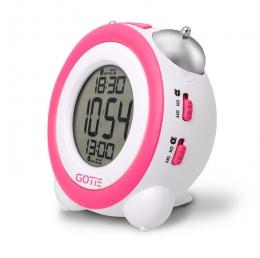 Електронний будильник GOTIE GBE-200R рожевий