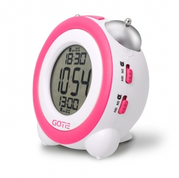 Электронный будильник GOTIE GBE-200R розовый
