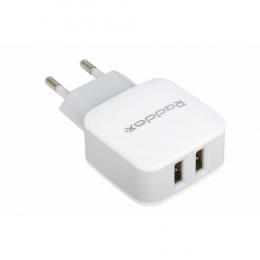 Зарядное устройство Reddax RDX-021 2USB (2400mAh + 1400mAh cable microUSB) White