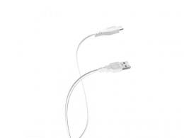 USB кабель Florence microUSB 1m 1A White (FD-M1-1W)