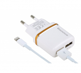 Зарядний пристрій Reddax RDX-014 + кабель MicroUSB White