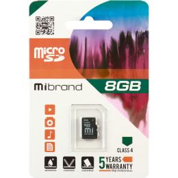 Карта пам'яті Mibrand  8 GB microSDHC Class 4 MICDC4/8GB