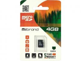 Карта пам'яті Mibrand 4 GB microSDHC Class 4 MICDC4/4GB