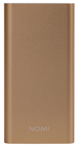 Зовнішній акумулятор Nomi E100 10000 mAh Gold