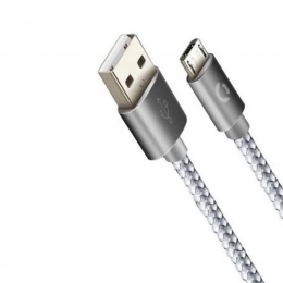 USB кабель Cord Ace microUSB 1м 2A Silver CDA-M1-2SI