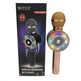 Беспроводной микрофон караоке WSTER WS-669 Bronze