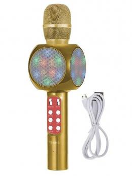 Беспроводной микрофон караоке WSTER WS-1816 Gold