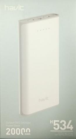 Зовнішній акумулятор Havit HV-H534 20000 mAh white