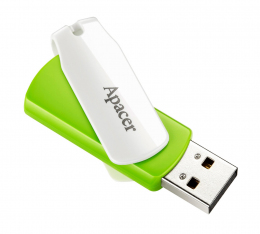 USB-флеш-накопичувач Apacer AH335 64GB USB Green/White (AP64GAH335G-1)