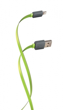 USB кабель Florence Lightning 1m 2 A Lime Green (FDC-L1-2L)