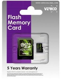 Карта пам'яті Verico microSDHC 8 Gb Class 4 (+ SD адаптер)