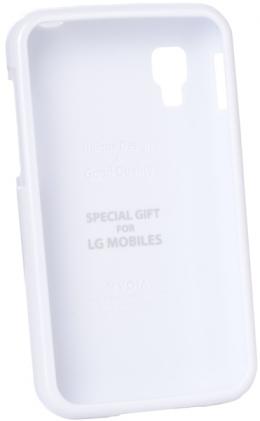 Чохол VOIA LG Optimus L4II Single Jelly White