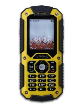 Мобільний телефон Sigma mobile X-treme PQ67 Yellow-Black