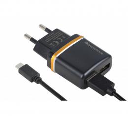 Зарядний пристрій Reddax RDX-014 + кабель MicroUSB Black