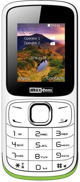 Мобильный телефон Maxcom MM129 White-Green
