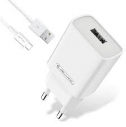 Зарядний пристрій Jellico AQC34 3A QC3.0 + microUSB cable quick charge White