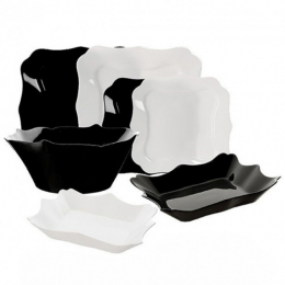 Столовий сервіз Luminarc Authentic Black/White E6195 19 предметів