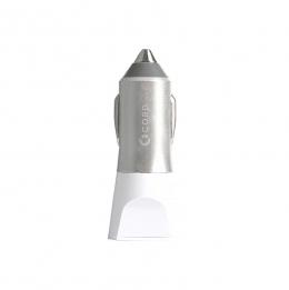Зарядний пристрій Cord Nova 2 USB 2.1A Silver/White (CC-1U021W)