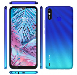 Смартфон Tecno Spark 4 Lite (BB4k) 2/32Gb DS Vacation Blue