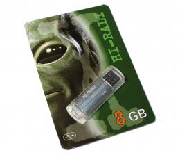 USB-флеш-накопитель Hi-Rali 8GB Corsair series Silver