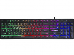 Клавиатура Real-El Comfort 7070 Black USB
