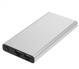 Внешний аккумулятор Florence Aluminum QC3.0 Li-Pol 10000mAh Grey (FL-3020-G)
