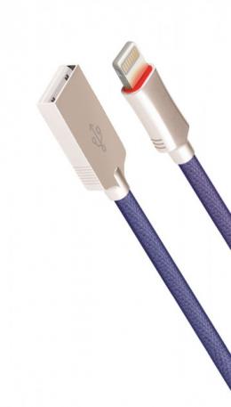 USB кабель Cord Hi-Q Lightning 1 m 2 A Blue CDH-L1-2Bl