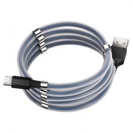 USB кабель Florence MagNet Type-C 1m 3A Black (FL-2202-KT)