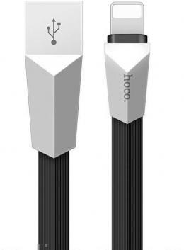 USB кабель Hoco X4 Zinc Alloy Lightning-USB 1.2m Black