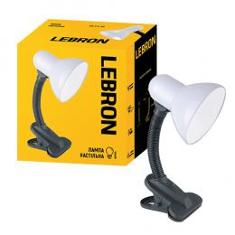 Лампа Lebron L-TL-CLip-E27-Wh