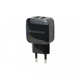 Зарядний пристрій Reddax RDX-021 2USB (2400mAh + 1400mAh cable microUSB) Black