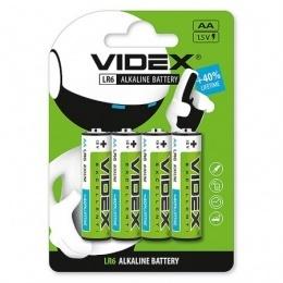 Батарейки Videx LR6/AA 4 шт.