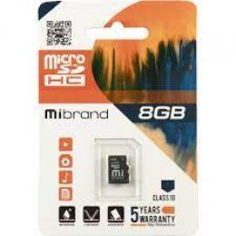 Карта пам'яті Mibrand 8 GB microSDHC Class 10 MICDHC10/8GB