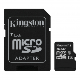Карта пам'яті Kingston microSD 16GB Canvas Select Class 10 UHS-I U1 (SDCS/16GBSP)