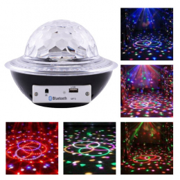 Лазер Lux CY-6740 UFO Bluetooth crystal magic ball White