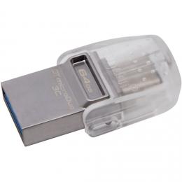 USB-флеш-накопитель  KINGSTON DT MICRODUO 3С 64GB