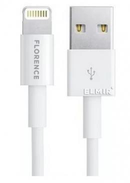 USB кабель Florence Wizer Lightning 1m 2.4A White (FL-2111-WL)