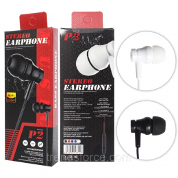 Навушники P2 Stereo Earphone Black