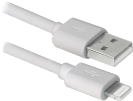 USB кабель Defender ACH01-10BH White USB-Lightning 3m