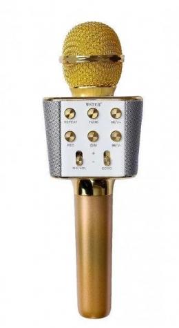 Безпровідний мікрофон караоке WSTER WS-1688 Gold