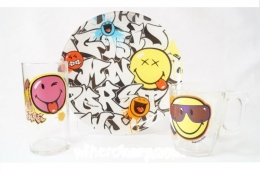Набір дитячого посуду Luminarc Disney Smiley World Graffity J1031