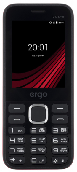 Мобільний телефон Ergo F243 Swift Black