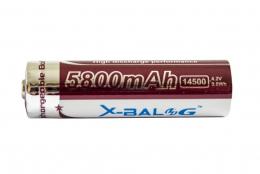 Акумулятор X-Balog 14500 (5800mAh) brown