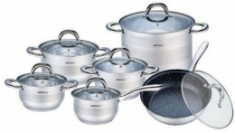 Набір посуду Bohmann BH-1234-MRB (12 предметів)