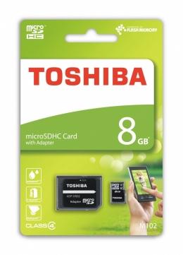 Карта пам'яті Toshiba microSD 8 GB Class 4 (+ SD адаптер) (THN-M102K0080M2)